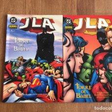 Cómics: JLA. TORRE DE BABEL TOMOS 1 Y 2 - LIGA DE LA JUSTICIA. DC COMICS. EDITORIAL NORMA. Lote 140644302