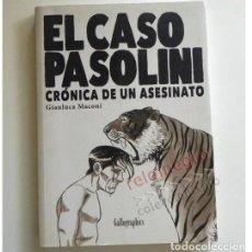 Cómics: EL CASO PASOLINI CRÓNICA DE UN ASESINATO - CÓMIC Y LIBRO DE TEXTO GIANLUCA MACONI MUERTE PIER PAOLO. Lote 140906694