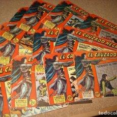Cómics: EL CRUZADO NEGRO - LOTE DE 12 TEBEOS, ORIGINALES - VER NÚMEROS. Lote 141253106