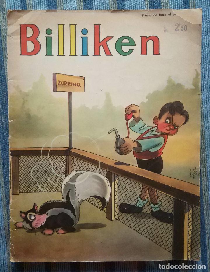 BILLIKEN Nº 1273 (AÑO 25) - CON POSTER CENTRAL Y AVENTURA DE SUPERMAN (EDIT. ATLANTICA 10/04/1944) (Tebeos y Comics Pendientes de Clasificar)