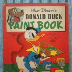 Cómics: WALT DISNEY´S PAINT BOOK (LIBRO DE COLOREAR) DONALD DUCK (WHITMAN PUBLISHING COMPANY 1942). Lote 141683234