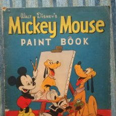 Cómics: WALT DISNEY´S PAINT BOOK (LIBRO DE COLOREAR) MICKEY MOUSE (WHITMAN PUBLISHING COMPANY 1942). Lote 141684646
