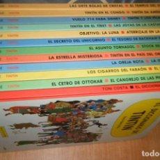 Cómics: COLECCION LAS AVENTURAS DE TINTIN LOTE 23 TITULOS 12 LIBROS CIRCULO LECTORES TAPA DURA. Lote 151878670