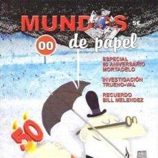 Cómics: MUNDOS DE PAPEL Nº 0 COLECTIVO D.TEBEOS ESPECIAL 50 ANIVERSARIO MORTADELO Y FILEMÓN. Lote 142432830