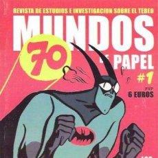 Cómics: MUNDOS DE PAPEL Nº 1 COLECTIVO D.TEBEOS ESPECIAL 70 AÑOS BATMAN. Lote 142433006
