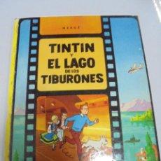 Cómics: TEBEO. TINTIN Y EL LAGO DE LOS TIBURONES. HERGE. 6º EDICION. 1984. TAPA DURA. Lote 142844646