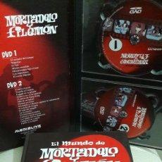 Cómics: EL MUNDO DE MORTADELO Y FILEMÓN 50 ANIVERSARIO CÓMIC + 2 DVD. Lote 142991514