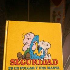 Cómics: SEGURIDAD, ES UN PULGAR Y UNA MANTA - DE CHARLES M. SCHULZ - ED. PLAZA JOVEN - AÑO 1989. Lote 143155750