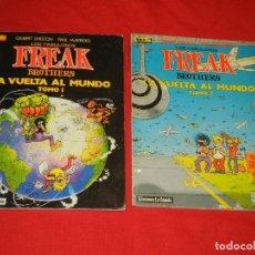Cómics: LOS FABULOSOS FREAK BROTHERS. LA VUELTA AL MUNDO, I Y II - SHELTOM MAVRIDES - LA CUPULA 1987. Lote 144722806