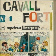 Fumetti: VOLUM ENQUADERNAT AMB ELS PRIMERS EXEMPLARS DE CAVALL FORT - Nº. 1, 7, 9, 10, 12, 13, 14 I 15 - NOU. Lote 144729874