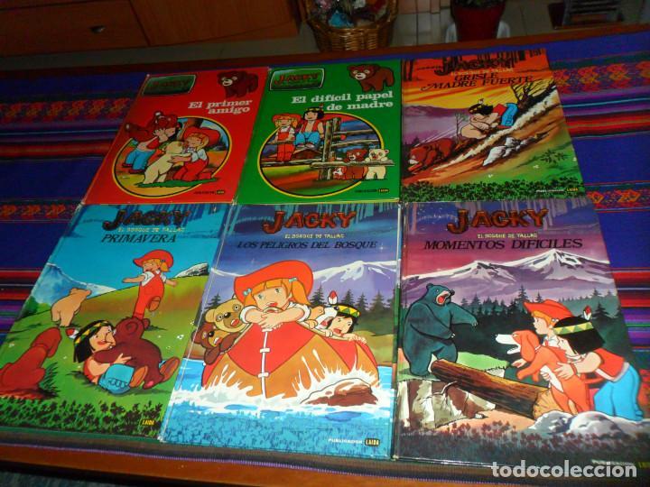 JACKY EL BOSQUE DE TALLAC COMPLETA. LAIDA 1979. GRISLE MADRE FUERTE, PRIMAVERA, MOMENTOS DIFÍCILES. (Tebeos y Comics - Comics otras Editoriales Actuales)