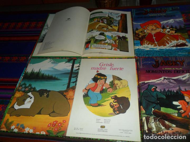 Cómics: JACKY EL BOSQUE DE TALLAC COMPLETA. LAIDA 1979. GRISLE MADRE FUERTE, PRIMAVERA, MOMENTOS DIFÍCILES. - Foto 2 - 145077598