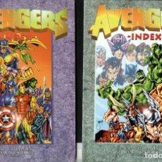 Cómics: AVENGERS INDEX. TOMOS 1 Y 2 (1997) TEXTOS RAFA S. FERNÁNDEZ. Lote 145129902