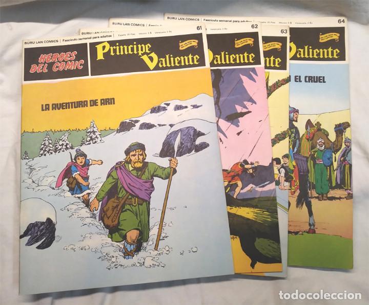 PRÍNCIPE VALIENTE Nº 61, 62, 63 Y 64 DE HAROLD FOSTER HÉROES DEL COMIC BURU LAN AÑO 1972 (Tebeos y Comics - Buru-Lan - Principe Valiente)