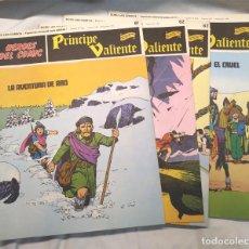 Cómics: PRÍNCIPE VALIENTE Nº 61, 62, 63 Y 64 DE HAROLD FOSTER HÉROES DEL COMIC BURU LAN AÑO 1972. Lote 145463502