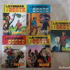 Cómics: LEYENDAS DEL OESTE 5 NÚMEROS. COLECCIÓN COMPLETA. EUREDIT.. Lote 146565010
