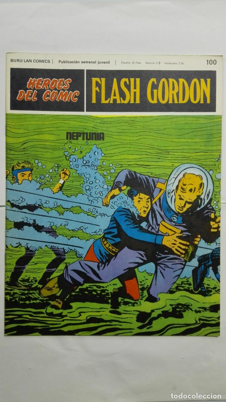 HEROES DEL COMIC - FLASH GORDON Nº 100, EDICIONES BURU LAN (Tebeos y Comics - Buru-Lan - Principe Valiente)