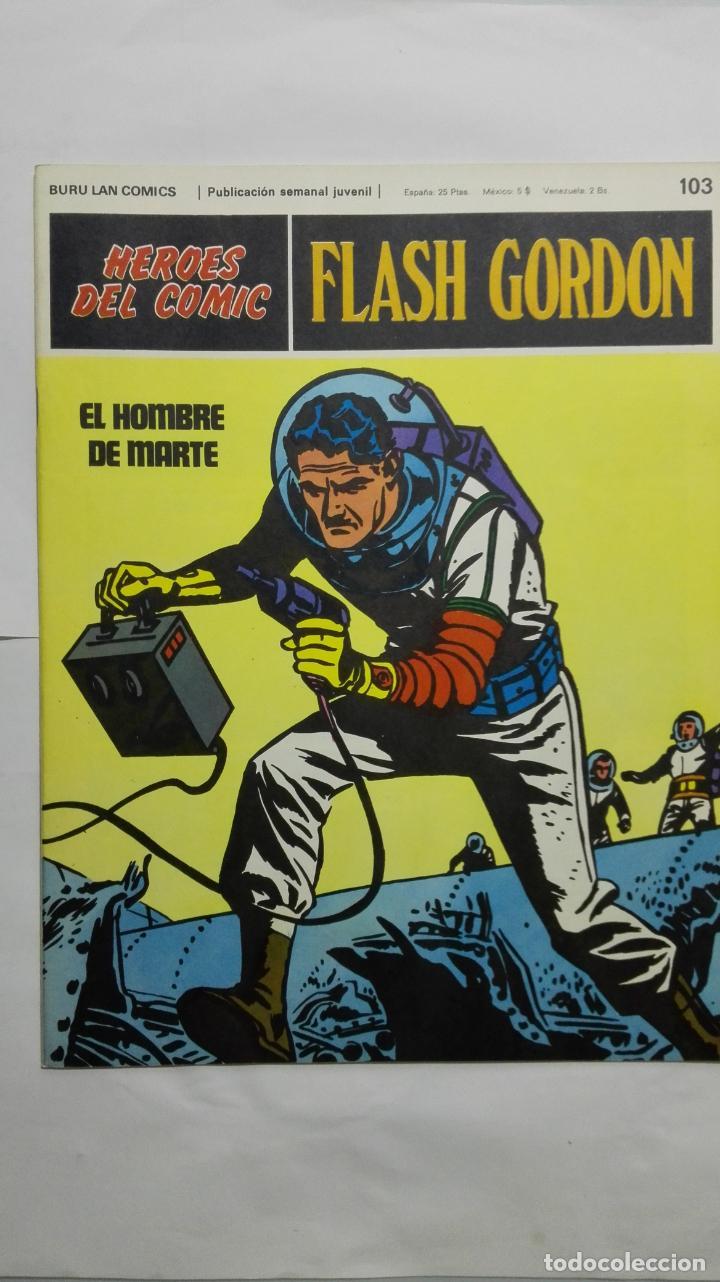 HEROES DEL COMIC - FLASH GORDON Nº 103, EDICIONES BURU LAN (Tebeos y Comics - Buru-Lan - Principe Valiente)