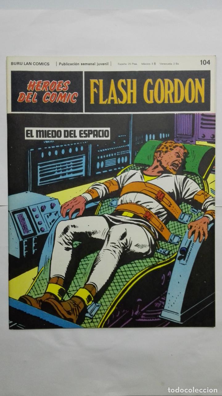 HEROES DEL COMIC - FLASH GORDON Nº 104, EDICIONES BURU LAN (Tebeos y Comics - Buru-Lan - Principe Valiente)