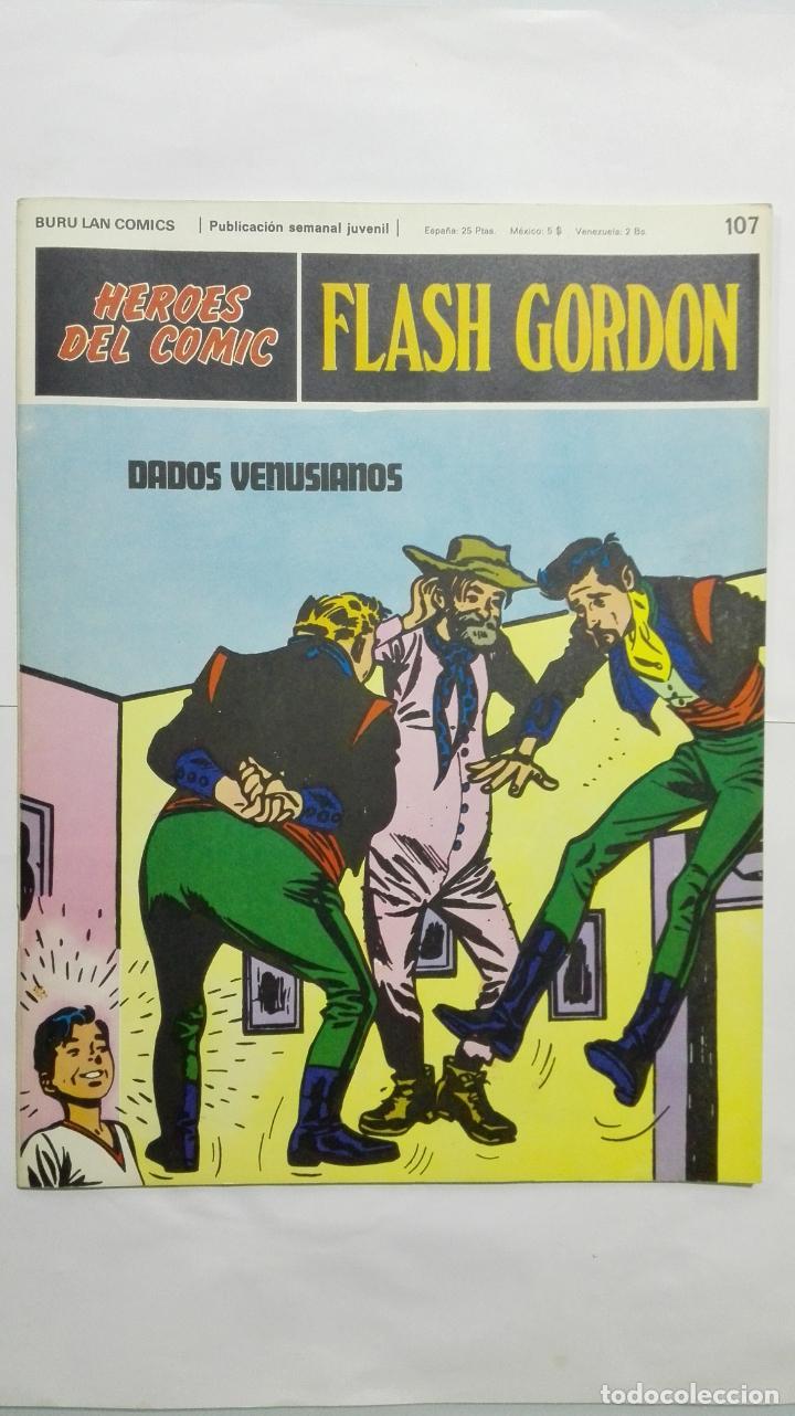 HEROES DEL COMIC - FLASH GORDON Nº 107, EDICIONES BURU LAN (Tebeos y Comics - Buru-Lan - Principe Valiente)