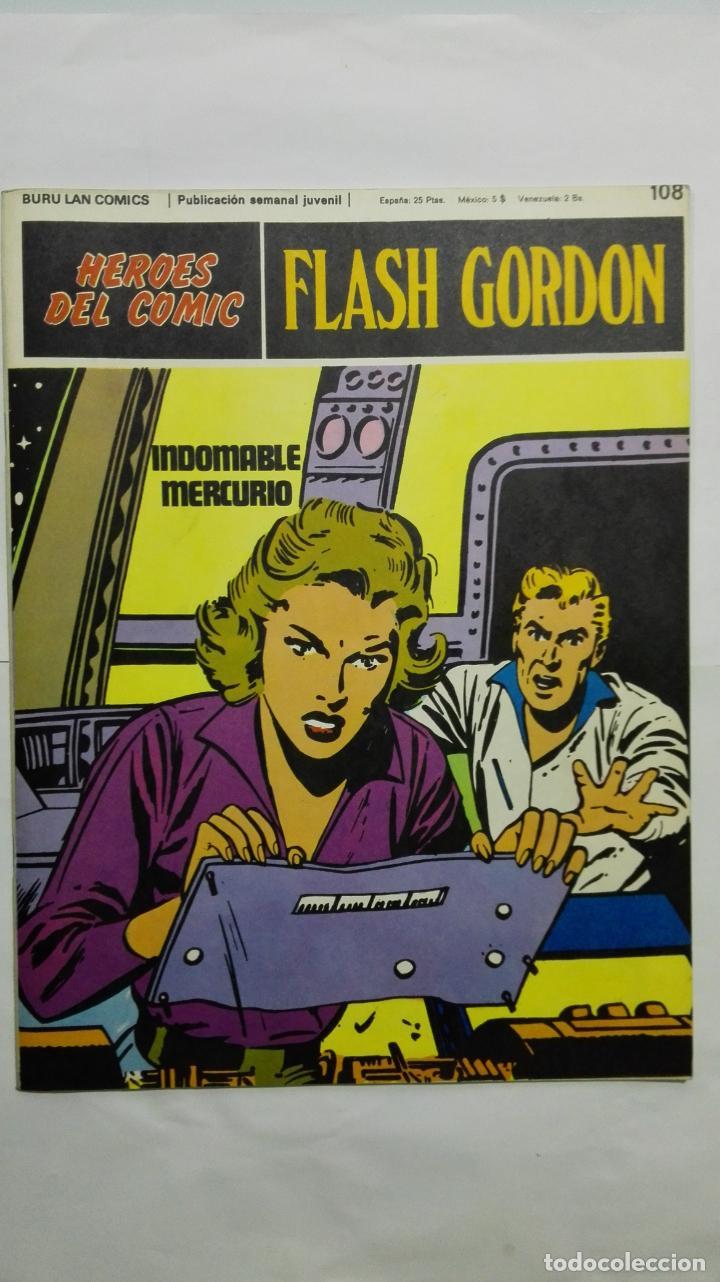 HEROES DEL COMIC - FLASH GORDON Nº 108, EDICIONES BURU LAN (Tebeos y Comics - Buru-Lan - Principe Valiente)