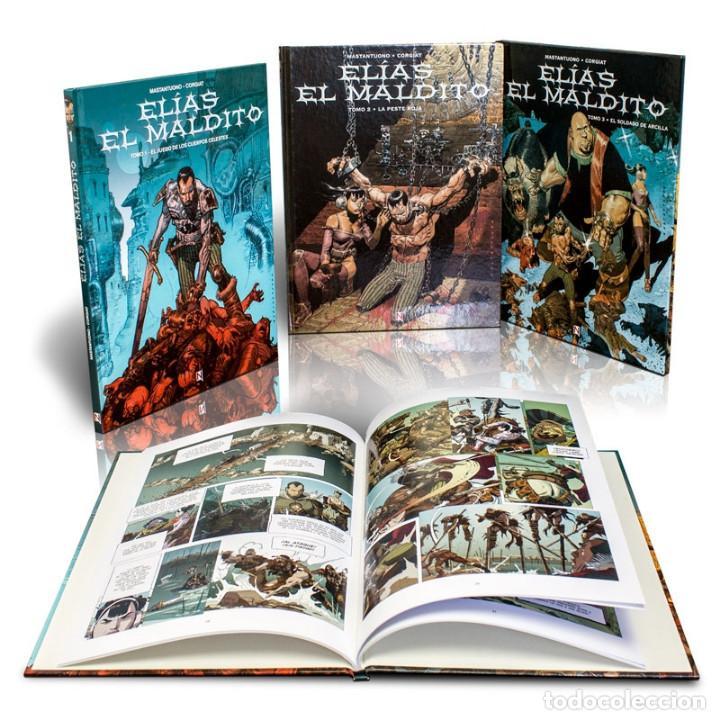 PACK ELÍAS EL MALDITO. 3 CÓMICS - MASTANTUONO/CORGIAT (CARTONÉ) DESCATALOGADO!!! OFERTA!!! - (Tebeos y Comics - Comics otras Editoriales Actuales)