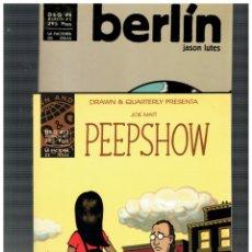 Cómics: D&Q PRESENTA -PEEPSHOW,BERLÍN,SONÁMBULO Y LA VIDA ESTÁ BIEN,SI NO TE RINDES-COMPLETA.17 EJEMPLARES.L. Lote 147057766