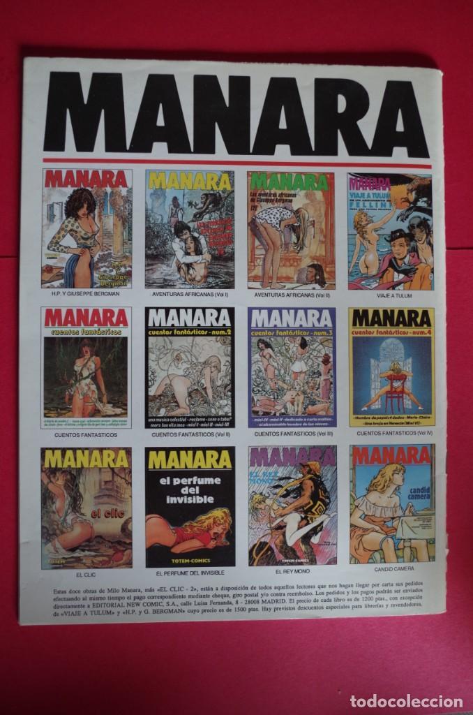 Cómics: MILO MANARA Nº 7 CUENTOS FANTASTICOS NEW COMIC 1992 - Foto 2 - 147079698