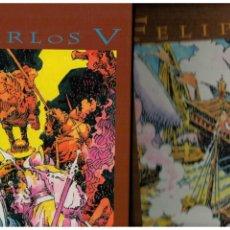 Cómics: CARLOS V Y FELIPE II -OBRA COMPLETA 2 TOMOS- HERNÁNDEZ PALACIOS.CONMEMORACIÓN CENTENARIOS.. Lote 147543746