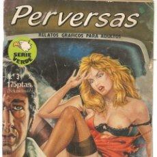 Cómics: PERVERSAS. Nº 3. RELATOS GRÁFICOS PARA ADULTOS. EDITORIAL ASTRI. (B/A60). Lote 147559142