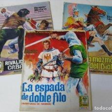 Cómics: AVENTURAS DE IVANHOE - LOTE DE LOS TRES PRIMEROS NUMEROS - 1968. Lote 147569566