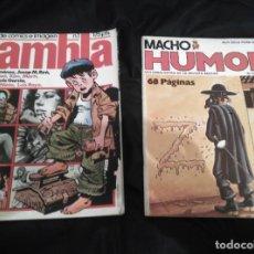 Cómics: LOTE 2 CÓMICS, RAMBLA Nº 1, MACHO HUMOR Nº 2, 1982-1979. Lote 147935234