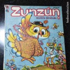Cómics: CUBA. ZUNZÚN. Nº 78. JUNIO, 1988.. Lote 148092318