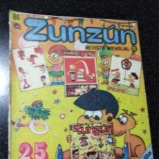Cómics: CUBA. ZUNZÚN. Nº 86. FEBRERO, 1989.. Lote 148094346