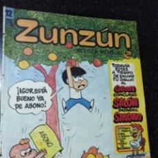 Cómics: CUBA. ZUNZÚN. Nº 12. 1982.. Lote 148217126