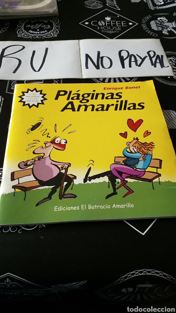 PLÁGINAS AMARILLAS ENRIQUE BONET BATRACIO AMARILLO (Tebeos y Comics - Comics otras Editoriales Actuales)