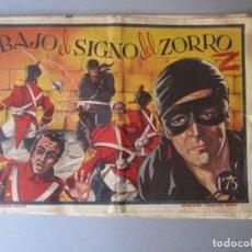 Cómics: DIAMANTE NEGRO (1943, RIALTO) 8 · 1944 · BAJO EL SIGNO DEL ZORRO. Lote 148681218