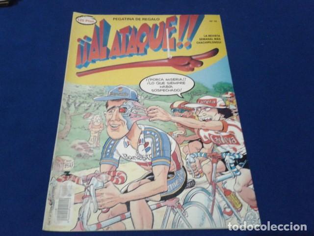 COMIC REVISTA Nº 18 ( AL ATAQUE CON POSTER ) 1993 DE ALFONSO ARUS (Tebeos y Comics Pendientes de Clasificar)