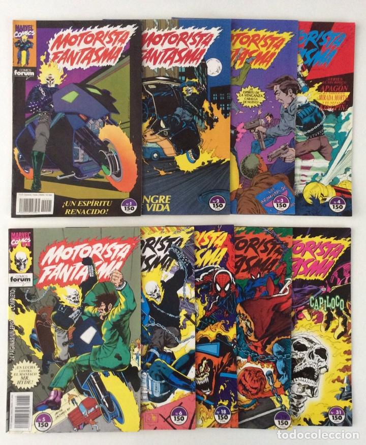 LOTE 9 CÓMICS MOTORISTA FANTASMA VOL.1 FORUM (1-31) (Tebeos y Comics - Comics Colecciones y Lotes Avanzados)