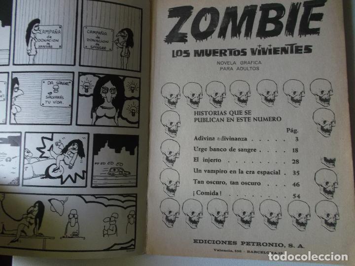 Cómics: ZOMBIE, LOS MUERTOS VIVIENTES, EDI. PETRONIO 1973, 64 PGS. - Foto 3 - 151101894