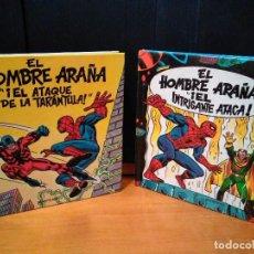 Cómics: EL HOMBRE ARAÑA EL INTRIGANTE ATACA Y EL ATAQUE DE LA TARÁNTULA. MONTENA, POP UP LOTE SPIDERMAN. Lote 151102686