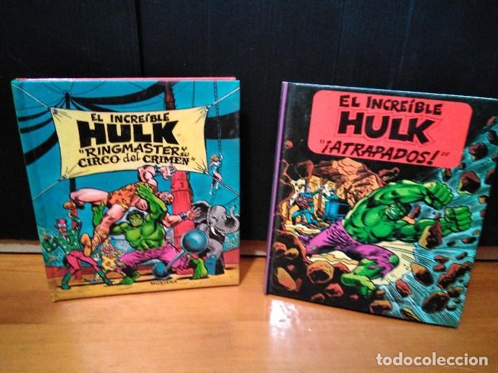 EL INCREÍBLE HULK, RINGMASTER Y SU CIRCO DEL CRIMEN Y ATRAPADOS. MONTENA, POP UP LOTE HULK (Tebeos y Comics Pendientes de Clasificar)