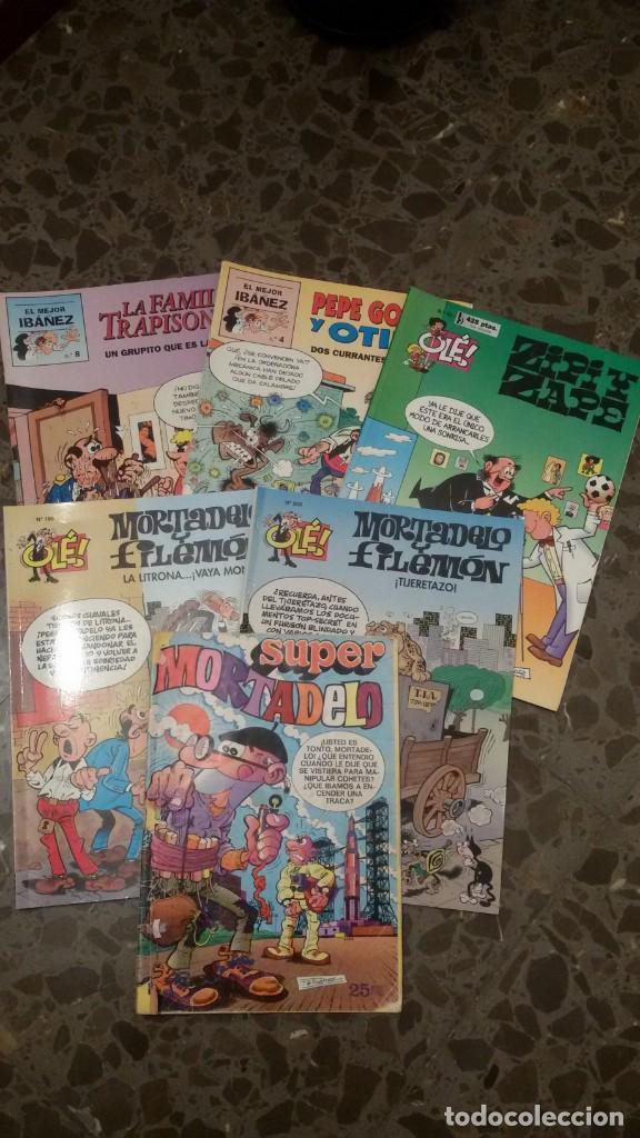LOTE 6 COMICS, MORTADELO, FAMILIA TRAPISONDA, ZIPI Y ZAPE, OLE. GASTOS ENVIO 5 EUROS (Tebeos y Comics Pendientes de Clasificar)