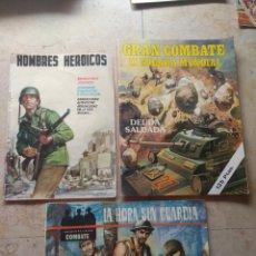 Cómics: LOTE TEBEOS BÉLICOS - GRAN COMBATE - HOMBRES HEROICOS - CINE COLOR COMBATE -. Lote 151981768