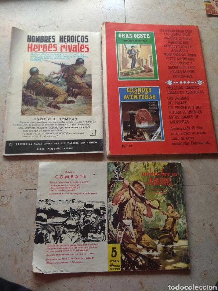 Cómics: Lote Tebeos Bélicos - Gran Combate - Hombres Heroicos - Cine Color Combate - - Foto 5 - 151981768