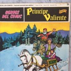Cómics: PRINCIPE VALIENTE Nº 51 - HEROES DEL COMIC - ED. BURU LAN 1972. Lote 152357302