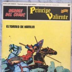 Cómics: PRINCIPE VALIENTE Nº 57 - HEROES DEL COMIC - ED. BURU LAN 1972. Lote 152359078
