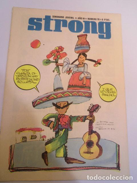 STRONG NUMERO 70 - EDICIONES ARGOS - 1969 (Tebeos y Comics - Comics otras Editoriales Actuales)