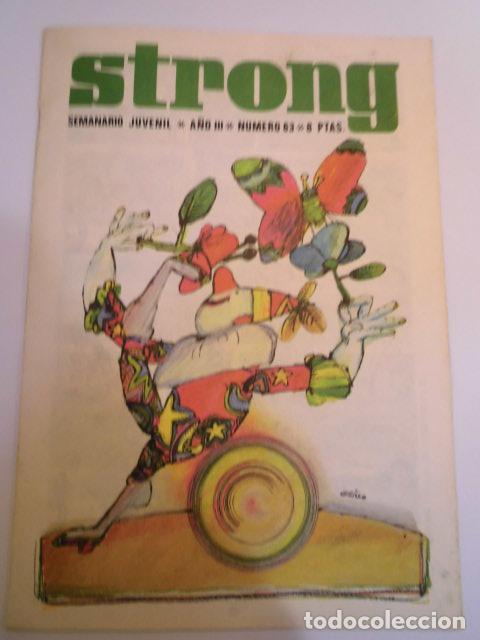 STRONG NUMERO 63 - EDICIONES ARGOS - 1969 (Tebeos y Comics - Comics otras Editoriales Actuales)