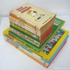 Cómics: LOTE 17 LIBROS ANTIGUOS BIBLIOTECA TODO SNOOPY PEANUTS EN INGLES + DE 5 KG. Lote 152585486